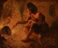 cooking pu-vu-lu (squirrel) by william robinson leigh
