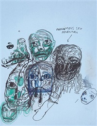 untitled (anonumous sex adventure) by bjarne melgaard