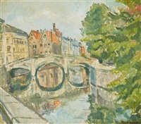 a canal in bruges by maximilien (max) clarenbach