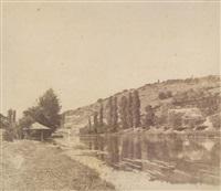 vue prise du parc de son château à acquigny by louis (comte du manoir) roger du val