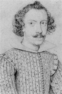 portrait of a young man with a moustache by ippolito leoni