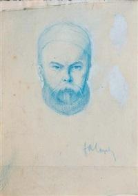 portrait de verlaine by frederic-auguste cazals