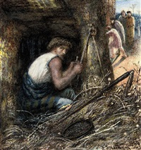 saul hiding among the stuff by james smetham
