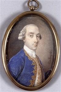 gentilhomme en habit de cour de soie bleu à parements or by giuseppe baldrighi