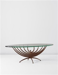 """vrillée"""" low table by serge mouille"""