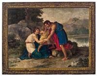 mythologische szene (die rückkehr des achilles?) by giuseppe cammarano