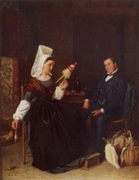 la visite de la fiancée (vendée) by léon-joseph billotte