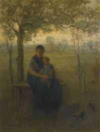 the madonna of drenthe by jozef israëls