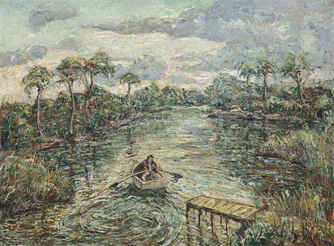 river through the everglades by ernest lawson