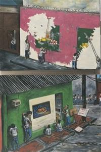 social realism defeats still life (+ still life defeats social realism; 2 works) by robert langenegger