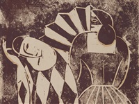 Harlequin with Masqued Woman, 1920