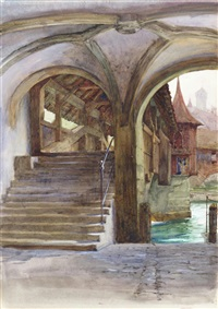 the bridge at lucerne by frank dicksee