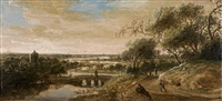 paysage animé au pont by anthony jansz van der croos