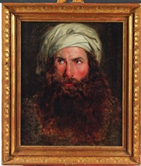 portrait présumé de giovanni battista belzoni, grand archéologue actif en egype by anne-louis girodet de roucy-trioson