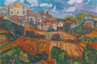 spanish village ii by john minton