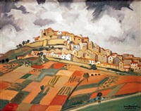 vue de cordes by yves brayer