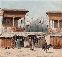 stalls at the market by richard karlovich zommer