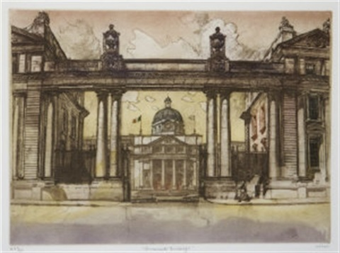 dublin architectural study irgr set of 4 by gordon miles