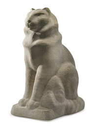 seated cat (tookey, the zorach cat) by william zorach