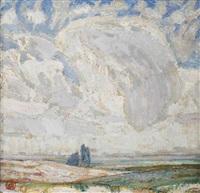 a summer landscape by léon de smet