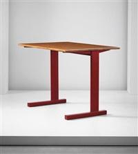 cité' table, model no. 500, designed for the cité universitaire, nancy by jean prouvé