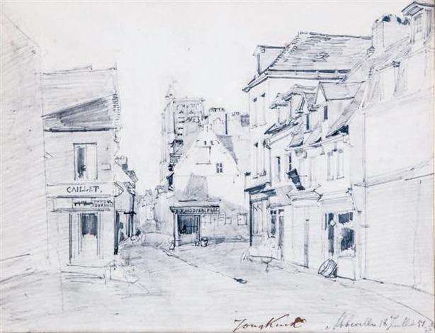 rue dabbeville somme by johan barthold jongkind