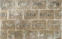 muro di pietra (pietra pietra) wall of stone (stone stone) by pino pascali