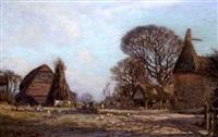 a kentish farmyard by thomas w. armes