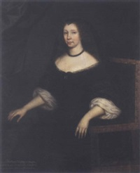 portrait of lady christian lindsay, wife of john, 4th earl of haddington by david scougall