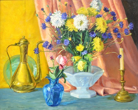 still life with flowers by ethel paxson