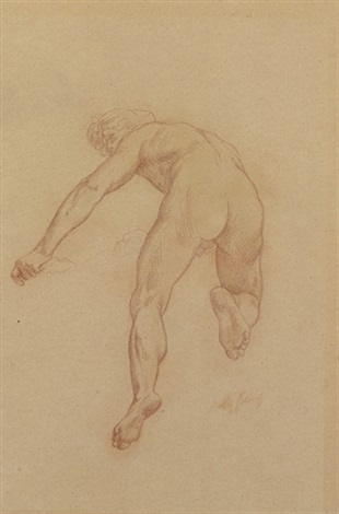 figure in the triumph of flora study by alexandre cabanel