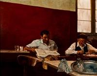 escena de taberna by manuel alcorlo