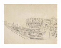 The prow of the Danish ship Sophia Amalia