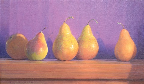 bosc and comice pears by peter tysver