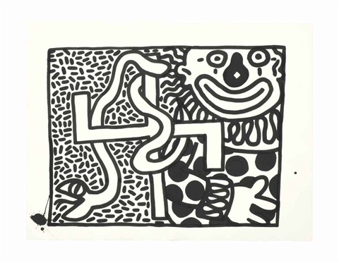 untitled clowns by keith haring