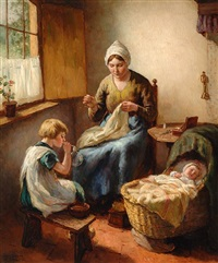 mother and children by louis soonius