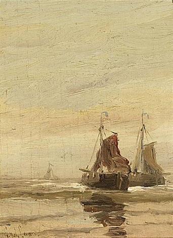 sailing vessels offshore by gerard van der laan