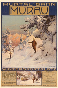 murtal-bahn - murau - wintersportplatz by gustav jahn