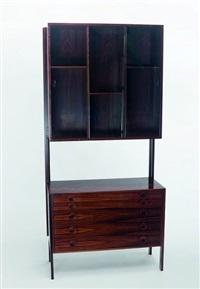 wall unit/display cabinet by h.g. mobler