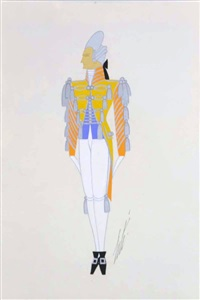 laquais (lackey) - a costume study by erté