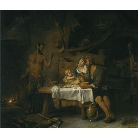 the satyr and the peasant by gerbrand van den eeckhout