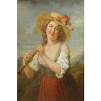 girl with an oboe by jean françois gilles colson