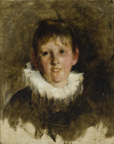 portrait of a young woman by frank duveneck