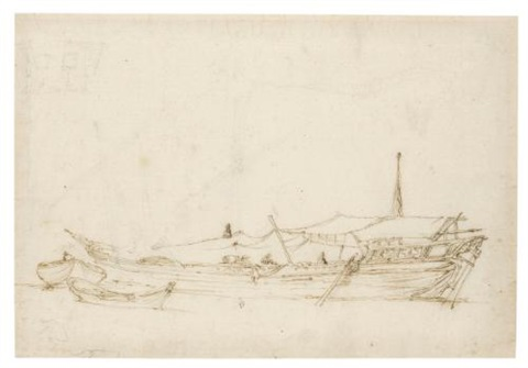 study of a boat by stefano della bella