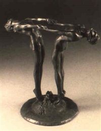two dancers: a flower holder by maude sherwood jewett