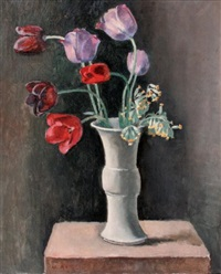 vase de tulipes by maurice asselin