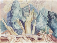 spectral trees, butley forest by john northcote nash