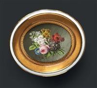 bouquet de fleurs au naturel, une pivoine, des narcisses, des pois de senteur et mina lobata by jan frans van dael