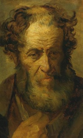 portrait de viellard after rembrandt by théodore géricault