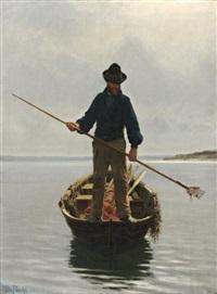 le pécheur d'anguilles by wilhelm pacht